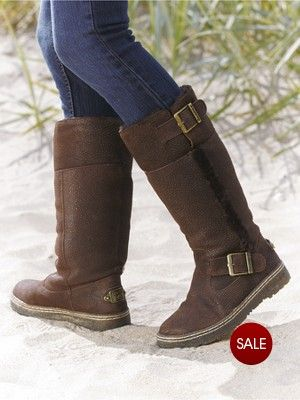 Boots, Leather boots, Bearpaw boots