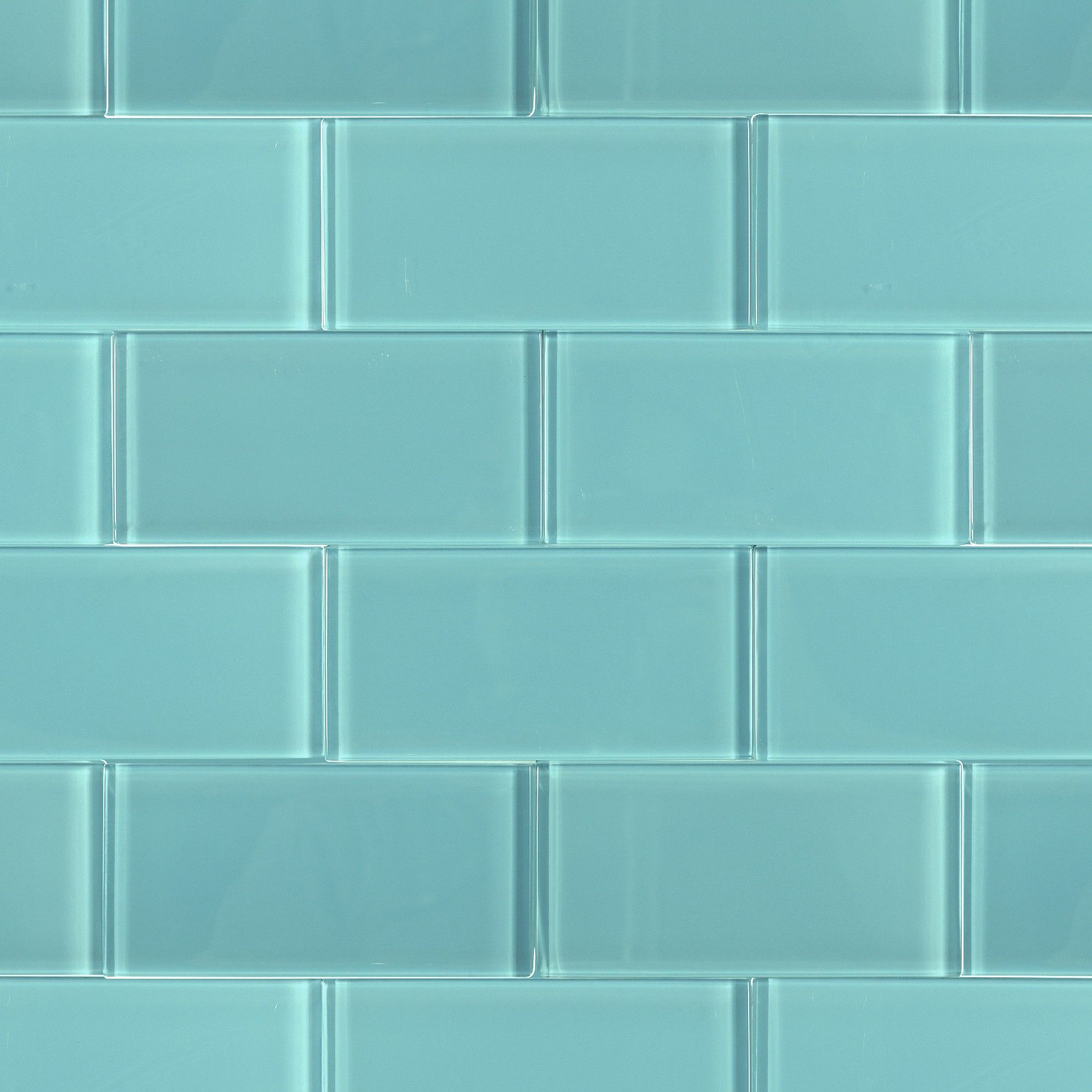 Loft Turquoise 3x6 Polished Glass Tile | Comprar