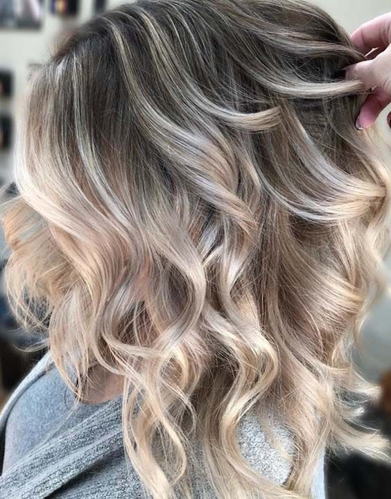 45 Amazing Contrast of Blonde Hair Highlights for 2018