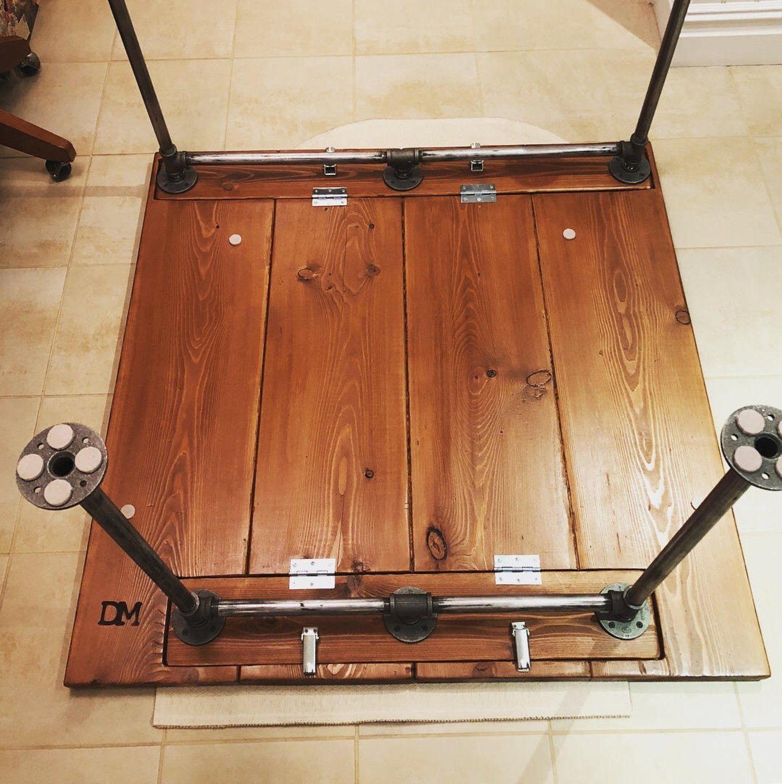 Table pliante de tuyaux en acier | Etsy | Table d\'extérieur ...
