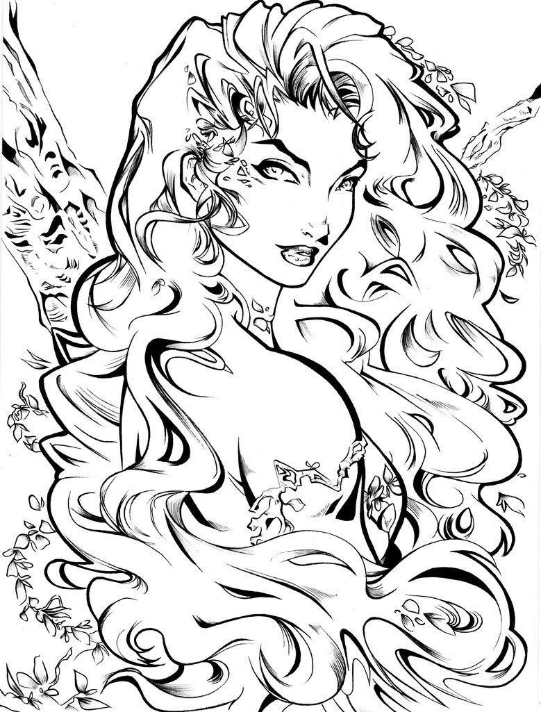 Explore Adult Coloring Pages Sheets And More Poison Ivy