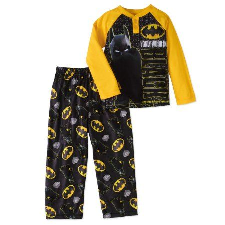 e002d2884 Lego Batman Boys  Henley Pajama 2-Piece Set