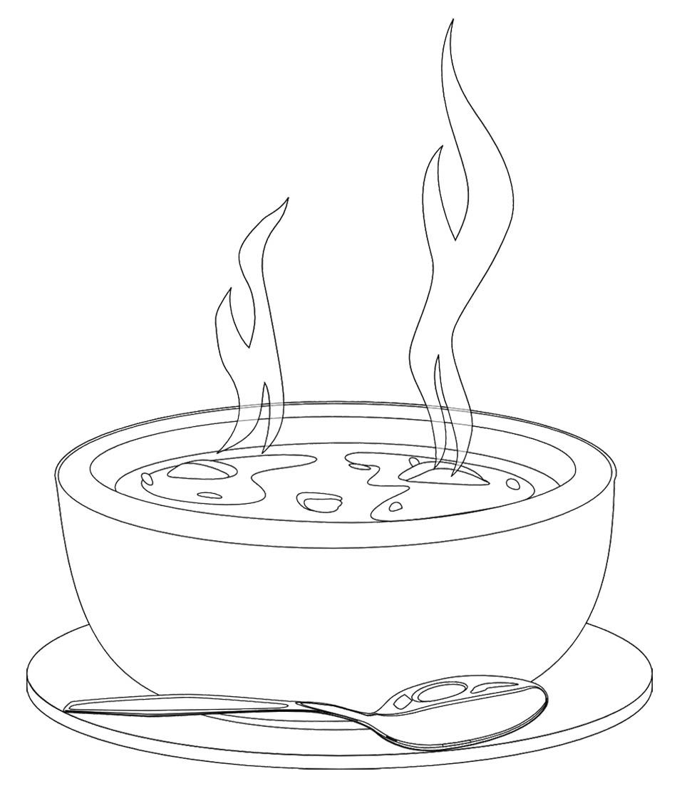 Http Www Graffitikids Net Wp Content Uploads 2014 01 A Bowl Of Hot Soup Coloring Page Jpg Bowl Of Soup Hot Soup Food Drawing
