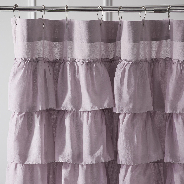 ruffle shower curtains shabby chic