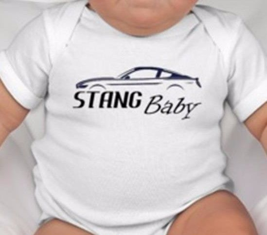 fb4e135a9 STANG Baby Onesie White One Piece Shirt Ford Mustang Infant Shower Gift Hot  Rod…