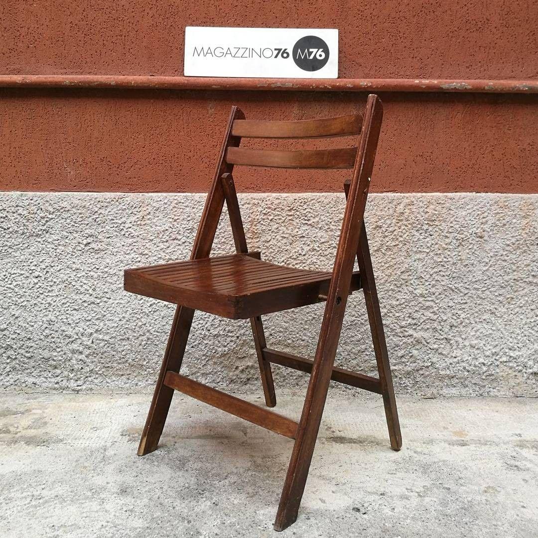 Set di 3 sedie pieghevoli in legno massello. magazzino76