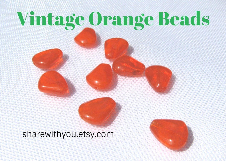 Beads | Unique Beads | Czech Beads | Glass Beads | Orange Beads ...