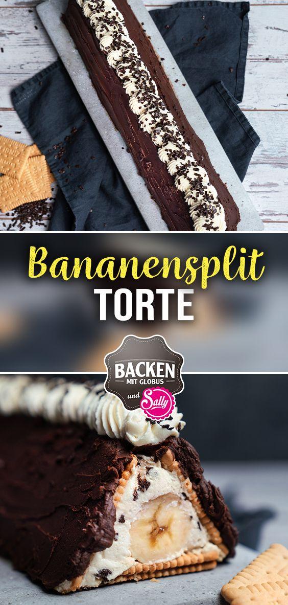 Bananen Split Torte – ohne Backen / BACKEN MIT GLOBUS & SALLYS WELT #106
