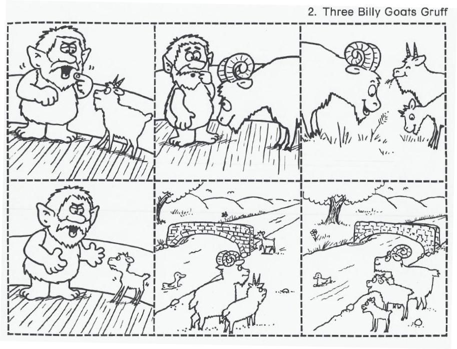The Three Billy Goats Gruff sequencing cards. These are great for ...