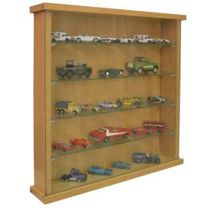 Glass Front Display Case Wall Mount