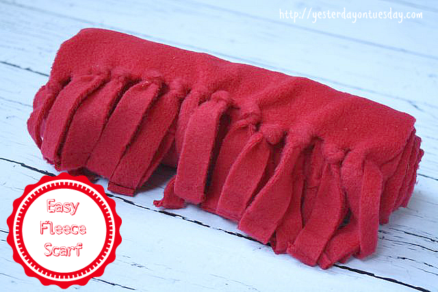 Make an Easy Fleece Scarf with materials from @Ben Franklin Crafts ...