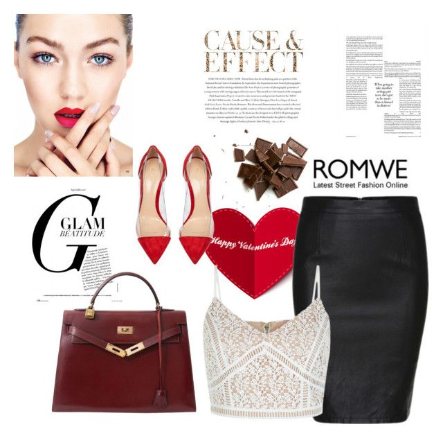 """Romwe contest"" by fashion-783 ❤ liked on Polyvore featuring New Look, Hermès, Gianvito Rossi and Envi"