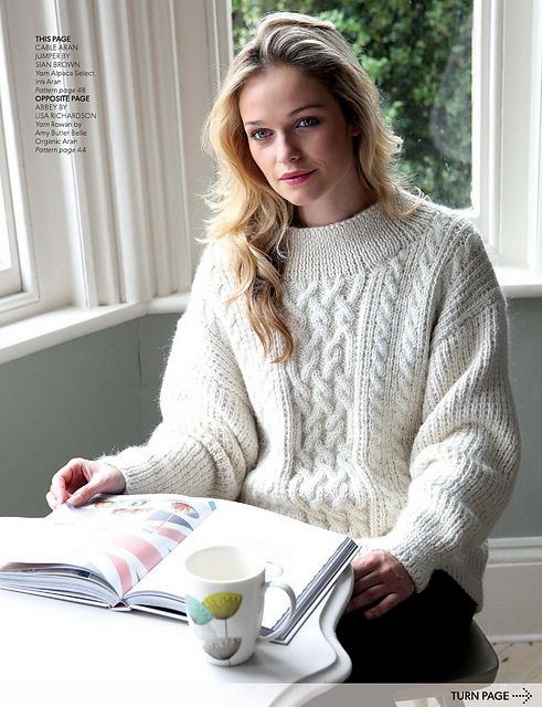 Ravelry: Cable Aran Jumper pattern by Sian Brown   knitting ...