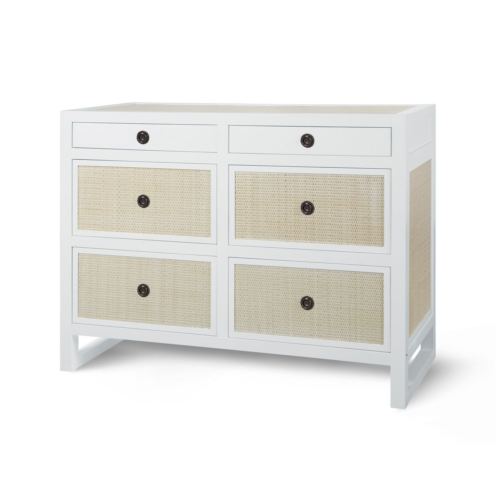 bungalow 5 mallet 6drawer dresser white