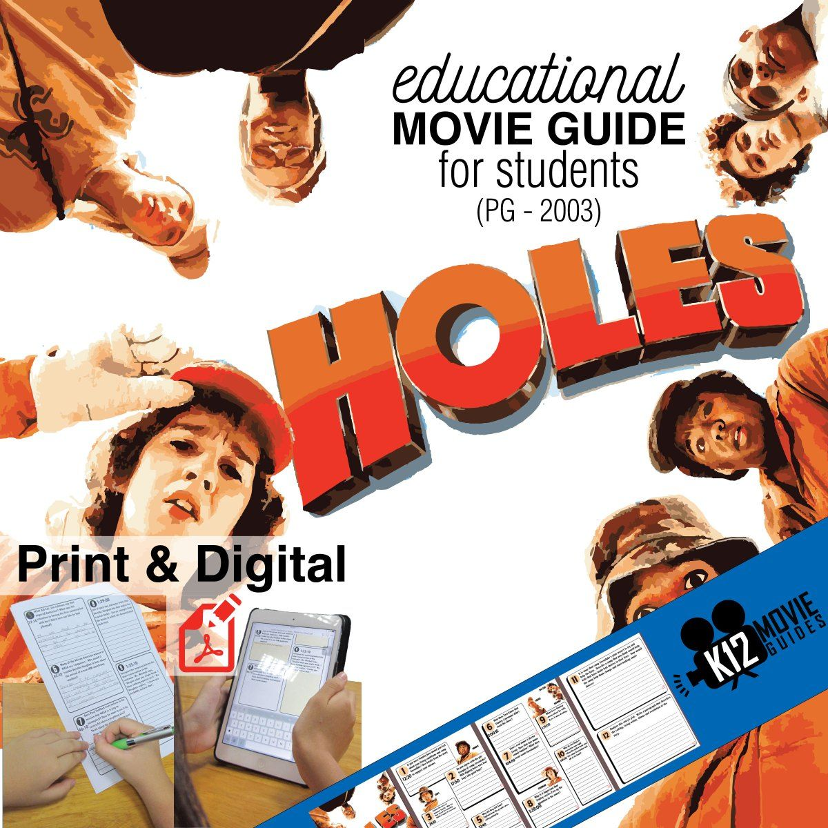 Holes Movie Guide Questions Worksheet Pg