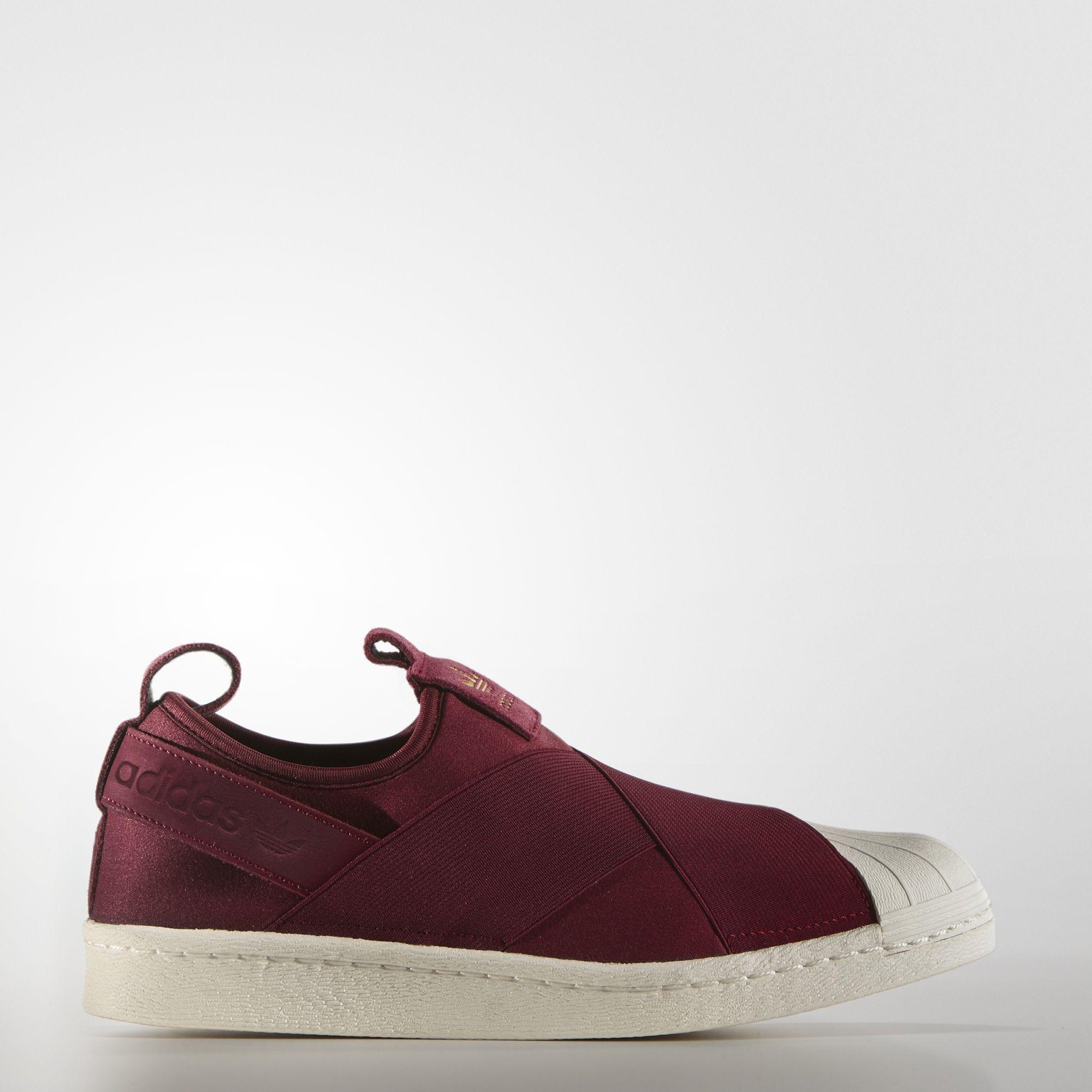 adidas Originals for Women Superstar Slip On Burgundy Vintage Shoes On Sale 3610936