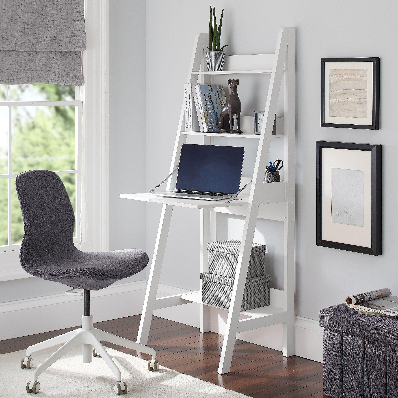 Home Desks for small spaces, Desk in living room, Ladder