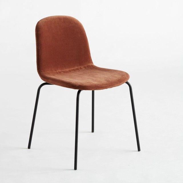 Chaise Velours Tibby Fauteuil De Table Chaise Chaise Confortable