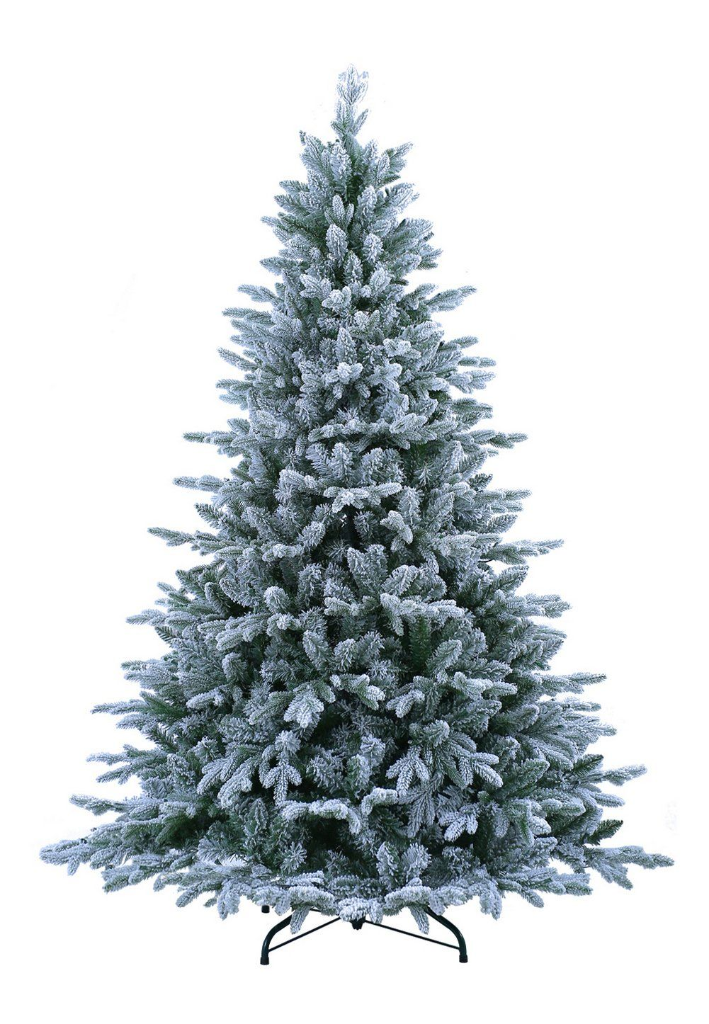 ABUSA Flocked Christmas Tree 9 ft Prelit Clearance with 900 LED ...