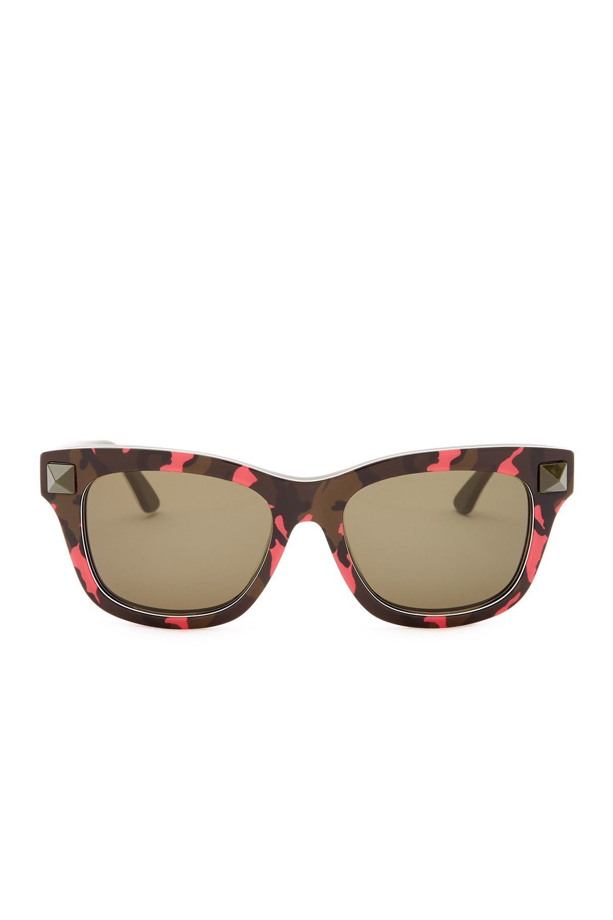 Women's Rockstud Camo Wayfarer Sunglasses