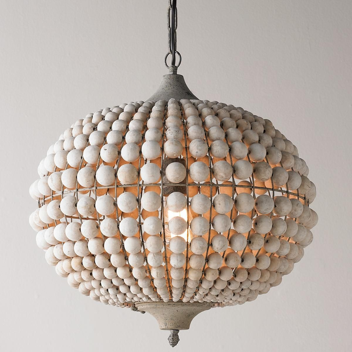 Wooden Lighting Pendants Bohemian Wood Bead Pendant Light Lighting Pinterest