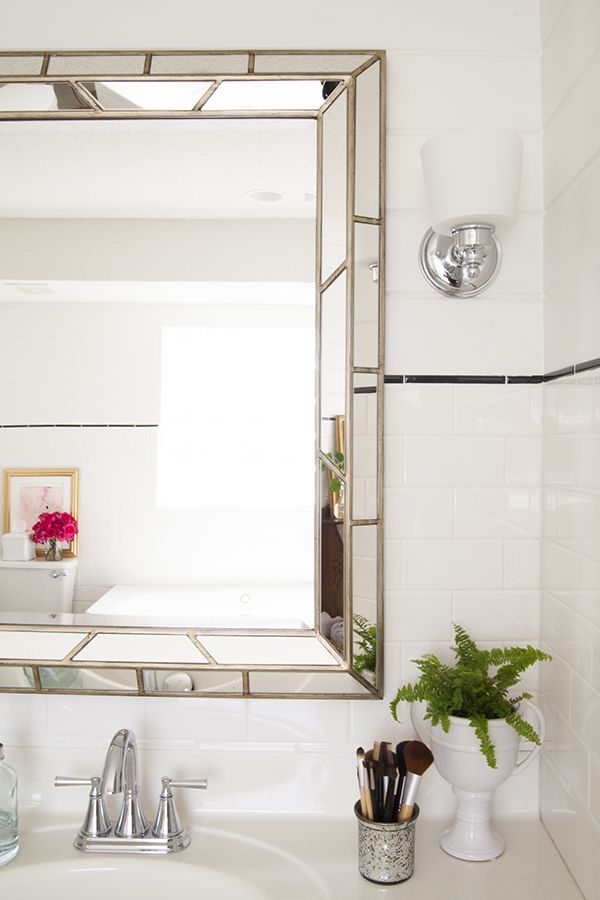 Bathroom Renovation A Custom Upgrade On Budget Home Depot BathroomMirror