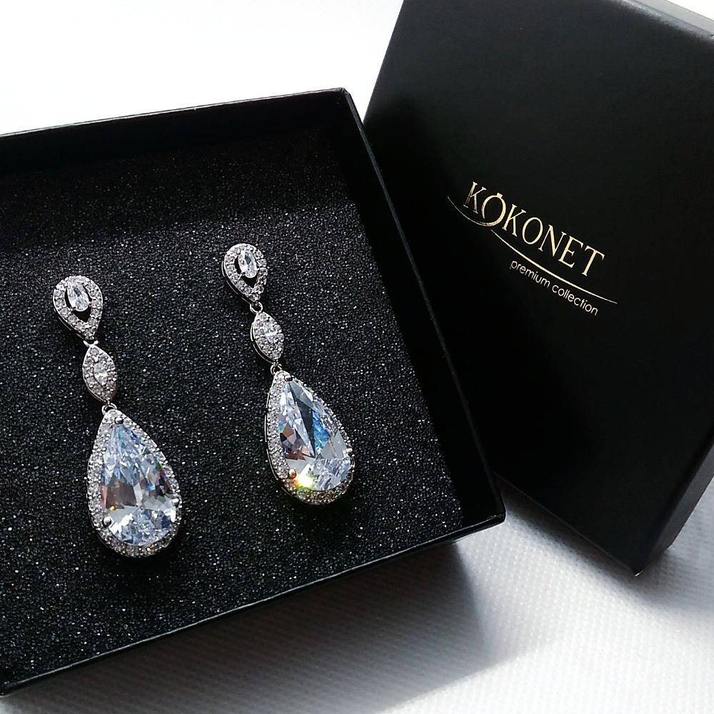 Kolczyki Lezki Eleganckie Slubne Aaa Wesele Wisza 7147563661 Oficjalne Archiwum Allegro Earrings Jewelry Drop Earrings