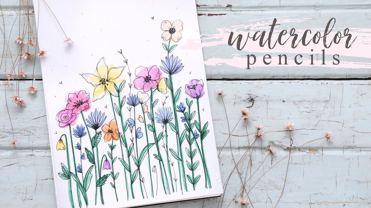 How To Use Watercolor Pencils For Beginners Shayda Campbell Video