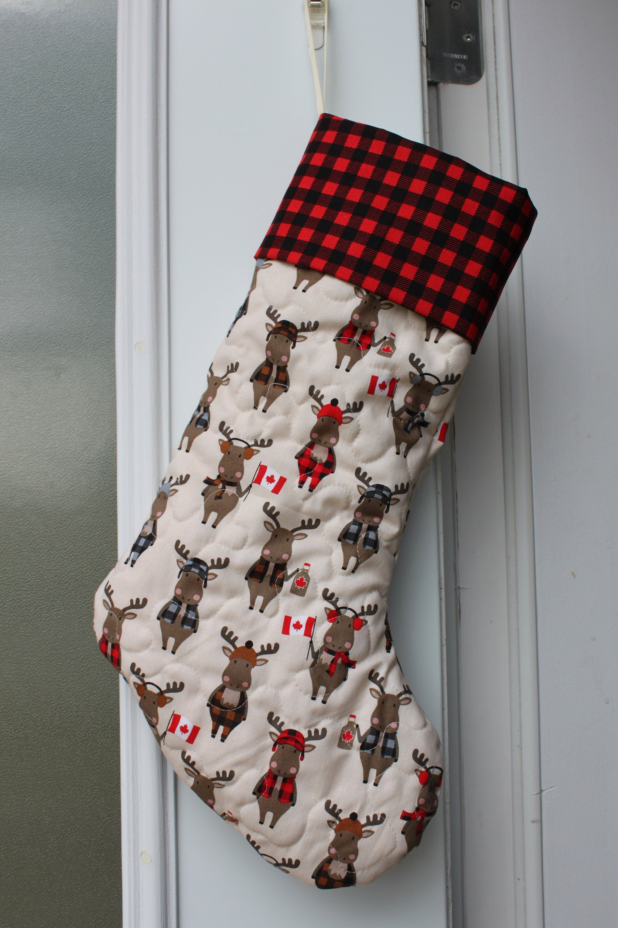 Christmas Stocking Canadian Moose Personalized Etsy