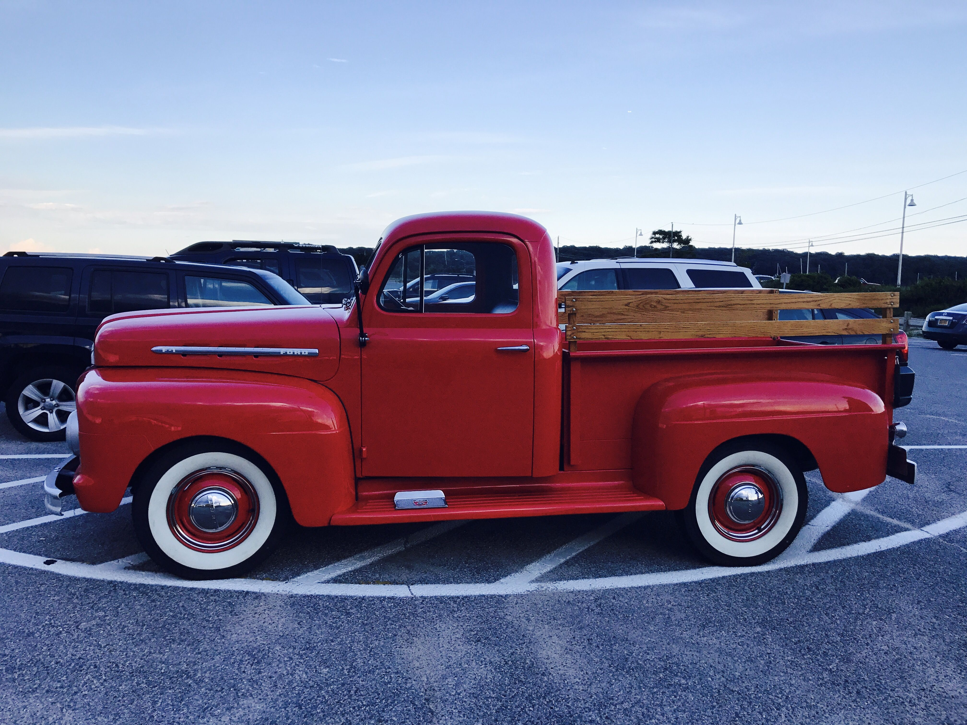 1951 Red Ford Stepside Pick Up Vintage Trucks Classic Cars