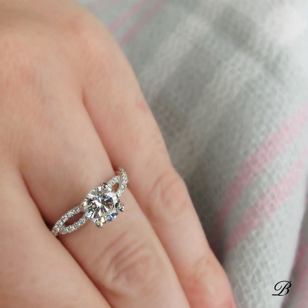 Say yes to this gorgeous twist engagement ring Bridal