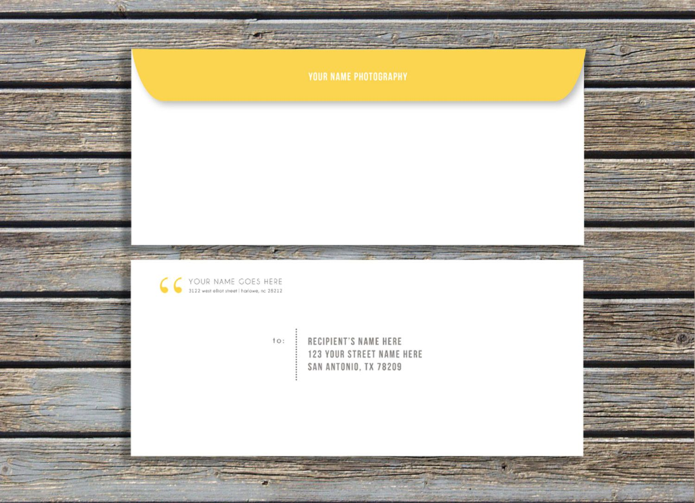 envelope design template word