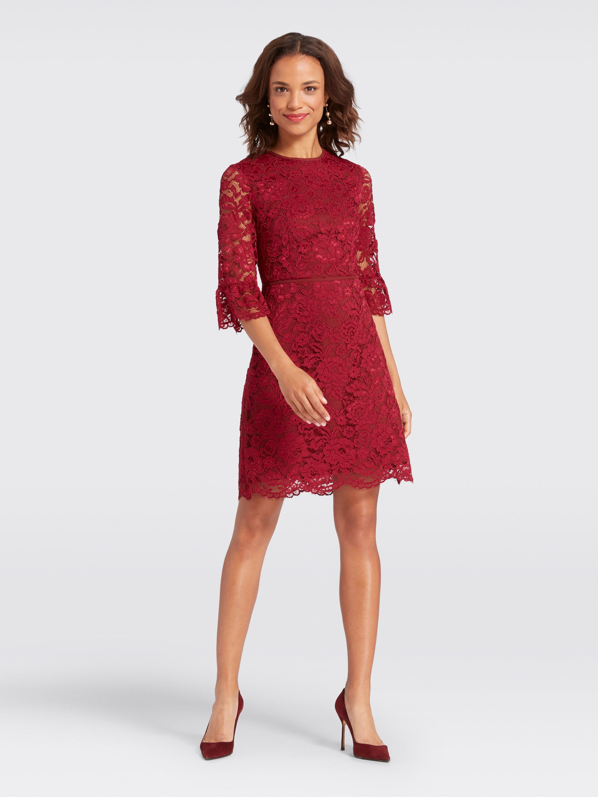 06d70836cb85 Draper James - Lace Bell-Sleeve Dress   Products   Dresses, Bell ...