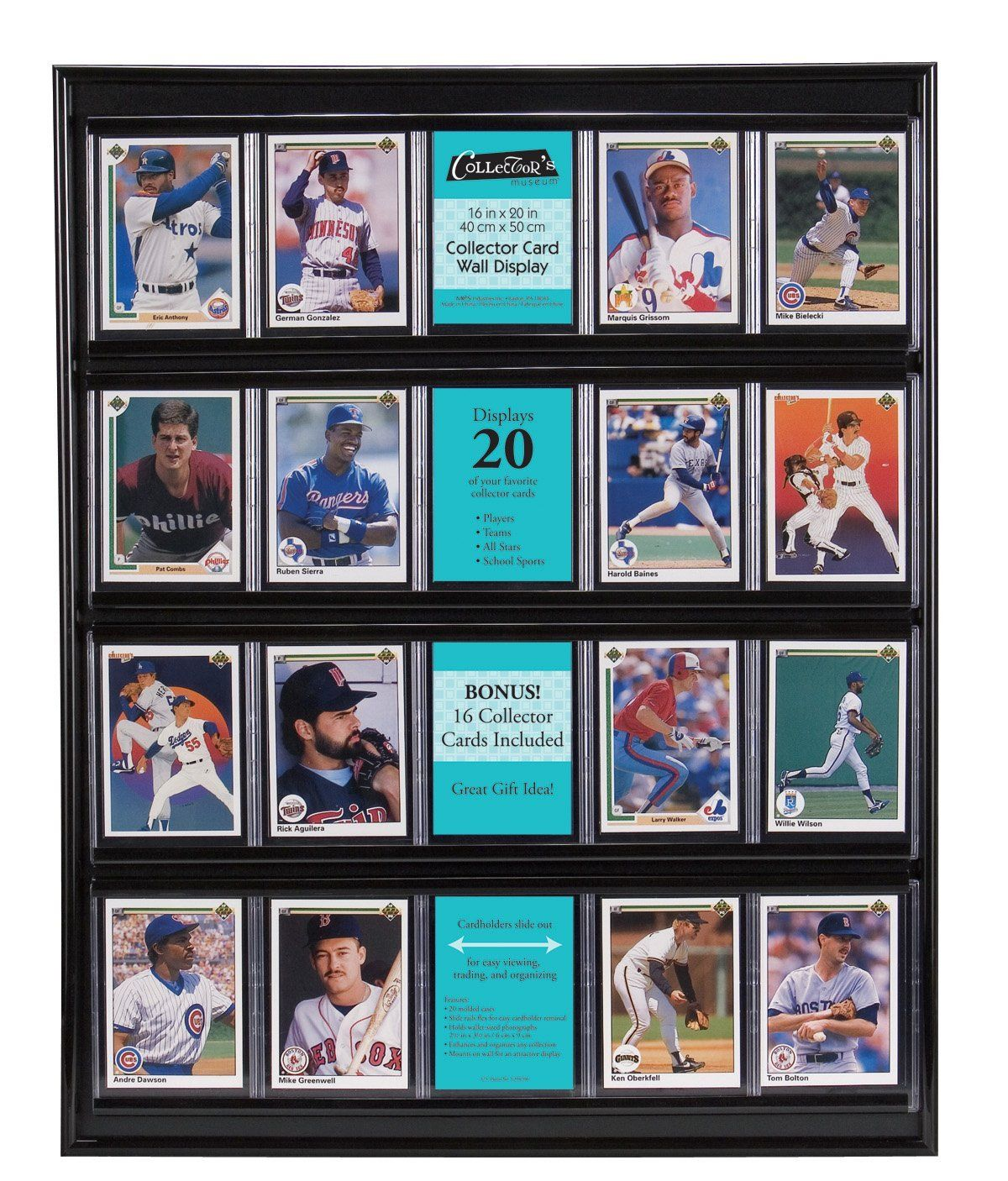MCS 52894 Collector Card 16x20 Wall Display, Holds 20 Sports Cards ...