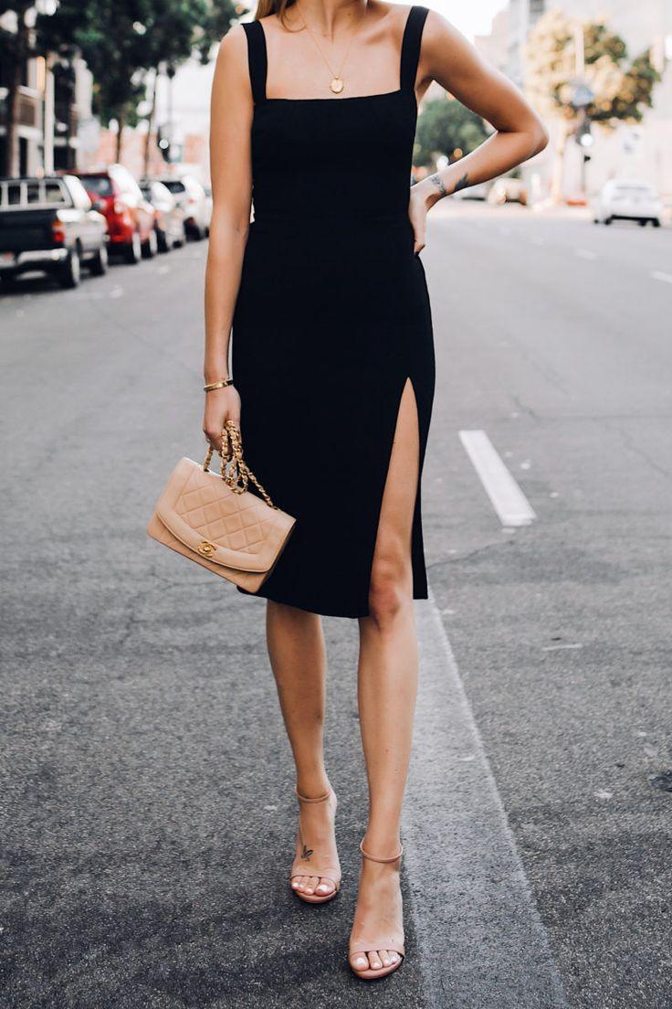 Fashion Jackson Reformation Black Dress Tan Ankle Strap Heeled Sandals Chanel Tan Diana Handbag Gold Coin Necklace Su Fashion Daily Dress Me Tight Black Dress [ 1104 x 736 Pixel ]