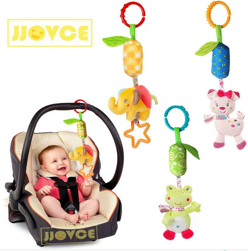Jjovce Lovely Animal Baby Rattles Stroller Hanging Toys Plush Mobiles Campanula Classic Toy Gifts For Ch Baby Hanging Toys Baby Stroller Toys Baby Toys Rattles