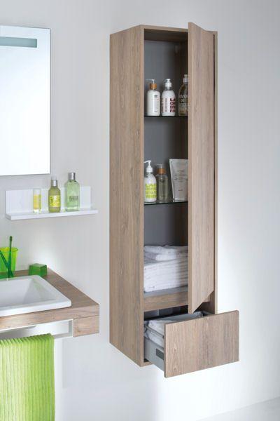Le bon mobilier pour une petite salle de bains Organizing - prise de courant dans salle de bain