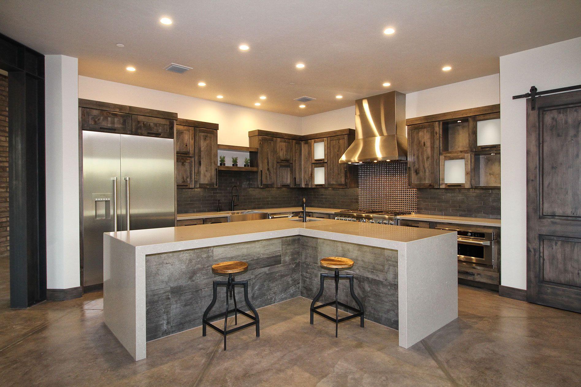 A Barn Style Kitchen Pantry Door Large Kitchen Island