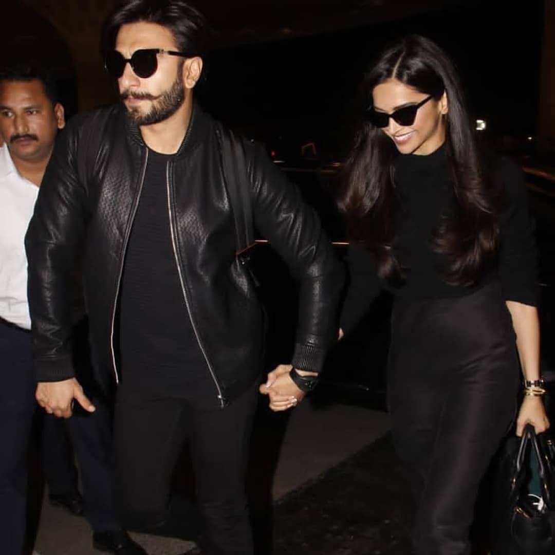 Off To Honeymoon And Twinning In Black At The Airport Bollywood Fashion Black Aesthetic Bollywood Stars