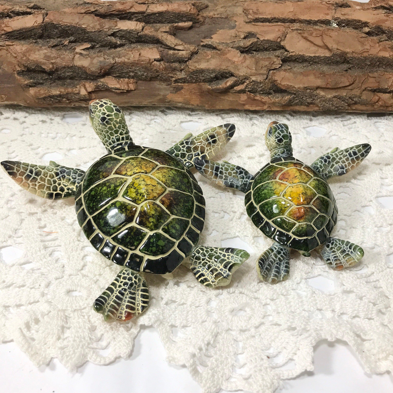 Resin  Green Sea Turtle  Figurine