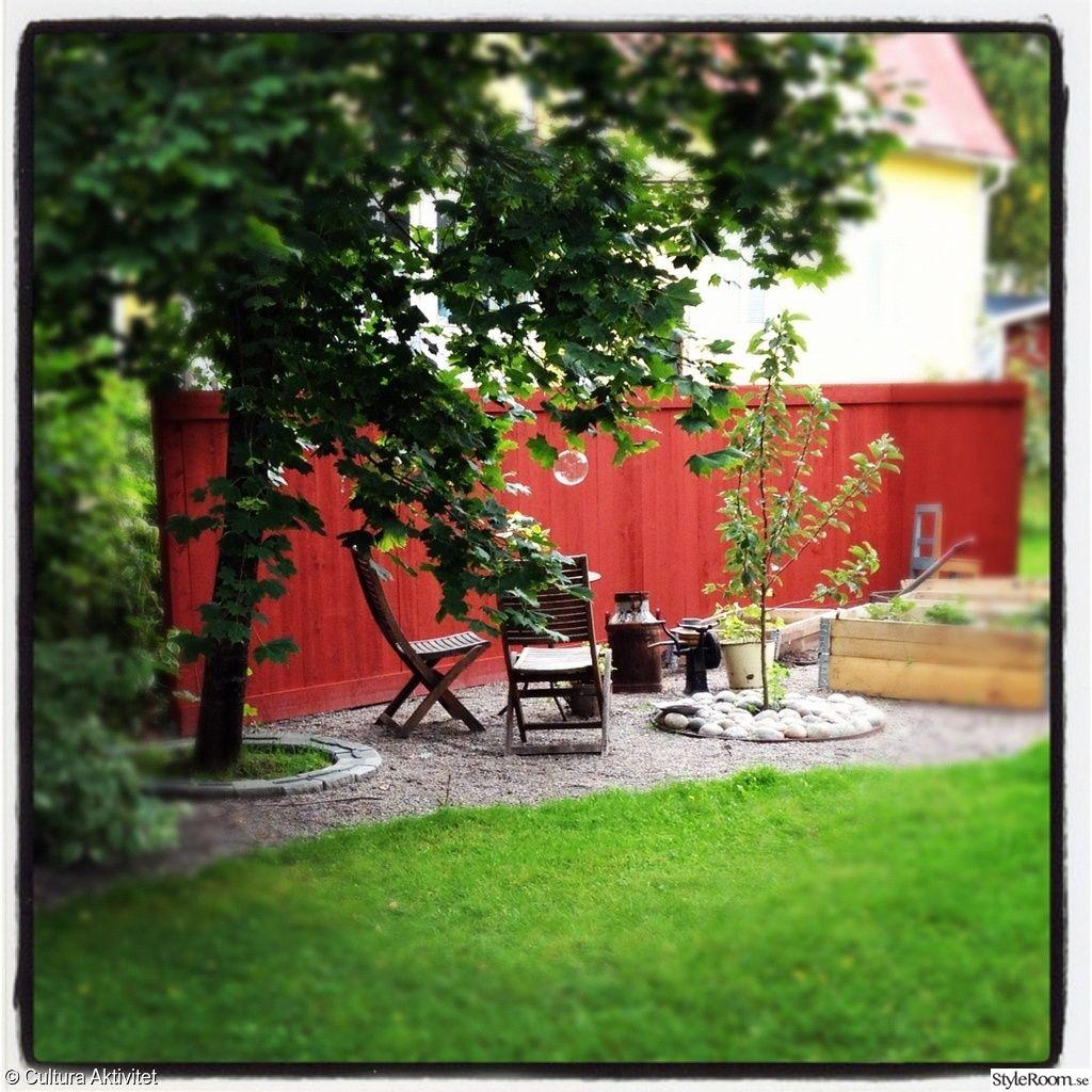 Trädgård plank trädgård : trädgÃ¥rdsland modell mindre,rött plank,insynsskydd,uteplats ...