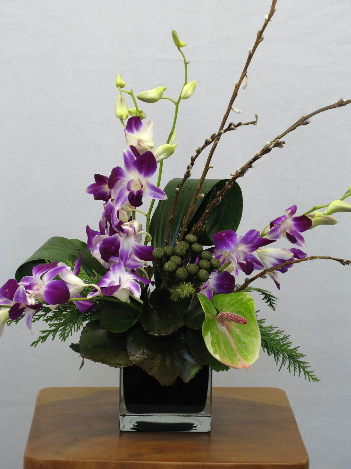 office flower arrangements. Vibrant Orchids Are The Highlight Of This Unique Floral Centerpiece Office Flower Arrangements