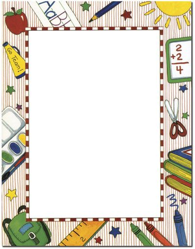 School theme border borders pinterest school themes for Themed printer paper