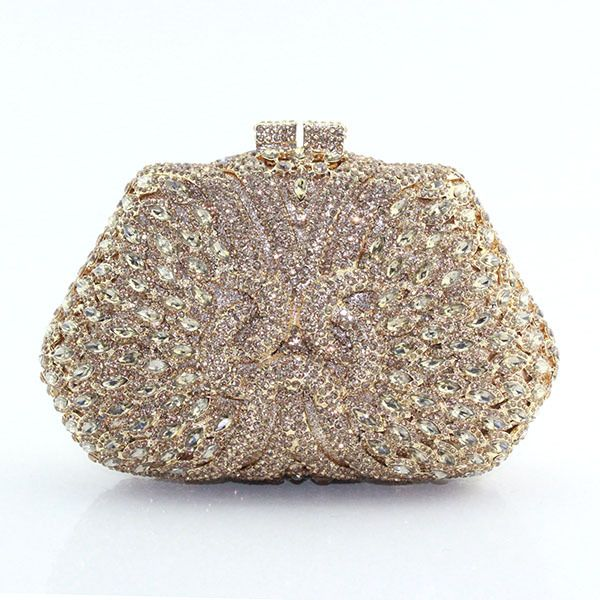 f691c528ac 2015 moda oro cristal rhinestone tarde bolsa indian bridal crystal clutch  bag ladies bolso(China (Mainland))
