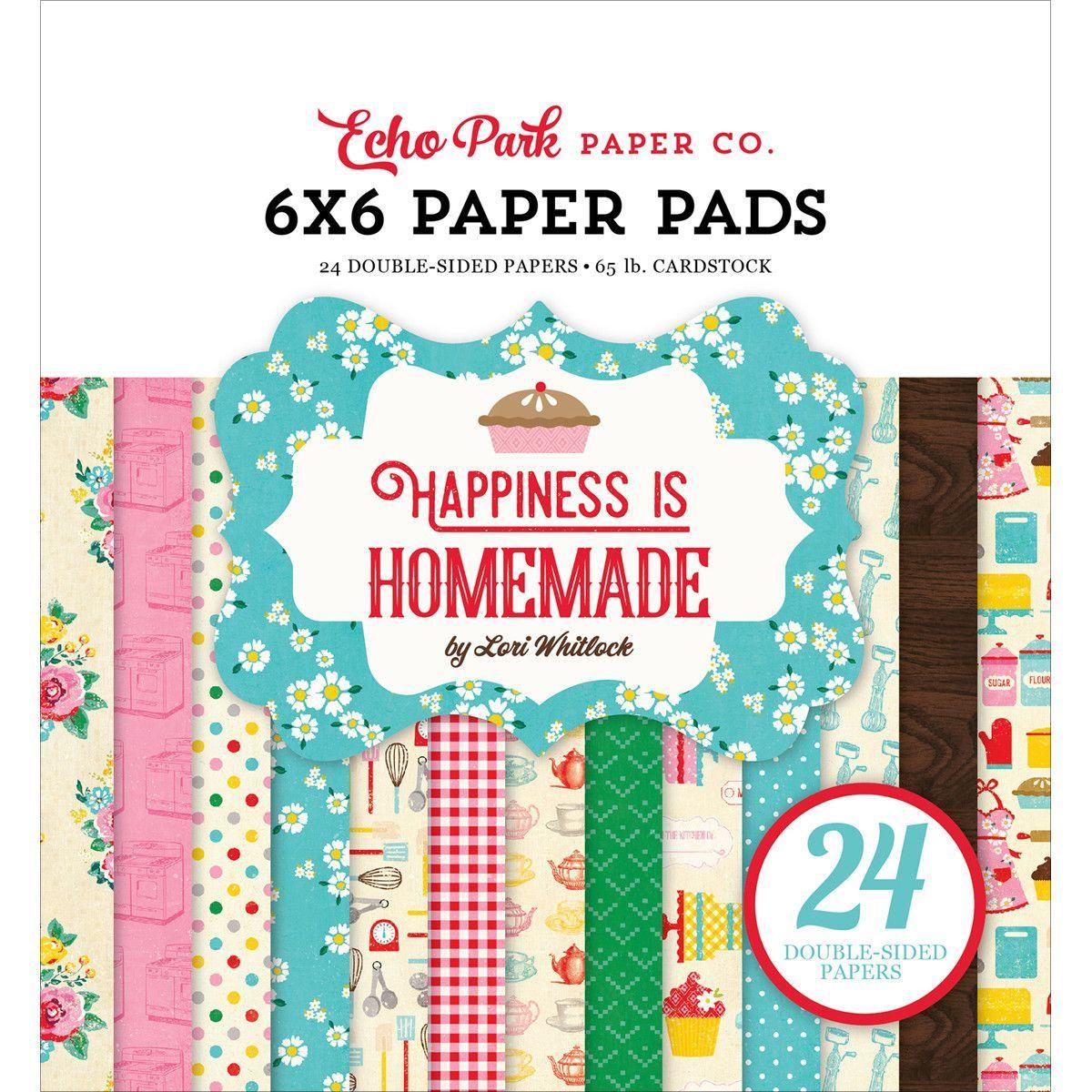 Scrapbook paper echo park - Echo Park Paper Happiness Is Homemade Paper Pad