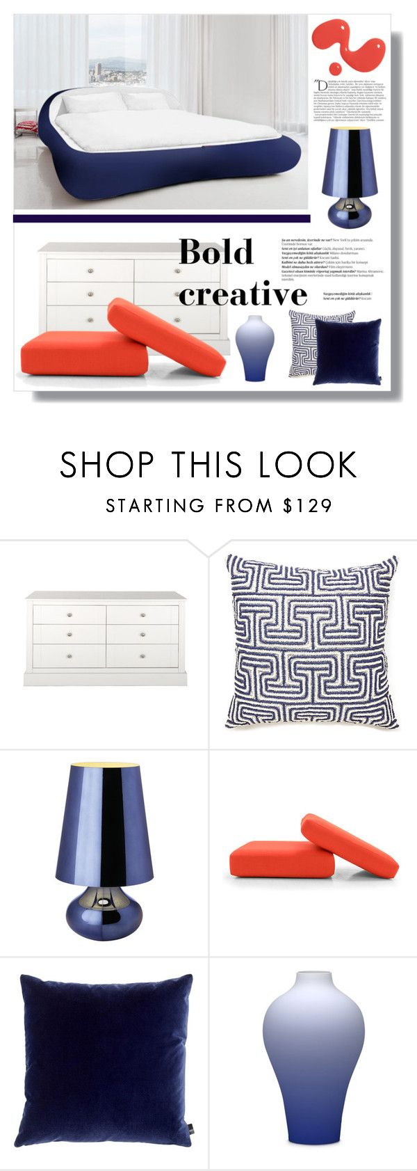 """the bold creative"" by mariarty ❤ liked on Polyvore featuring interior, interiors, interior design, home, home decor, interior decorating, Jonathan Adler, Kartell, Balmain and Joybird Furniture"