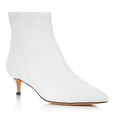 18377a38056c Lewit Abra Booties - white sock boots, white ankle boots, white booties, white  kitten heel boots