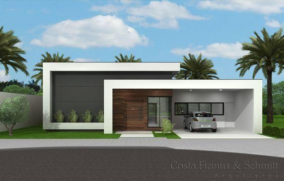 Casas modernas de una planta colores para fachadas 2018 for Plantas minimalistas para exteriores
