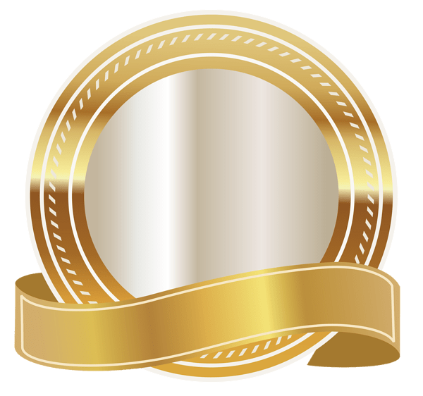 Gold Seal With Gold Ribbon Png Clipart Image Daniel Jenkins Academy Ribbon Png Gold Ribbons Clip Art