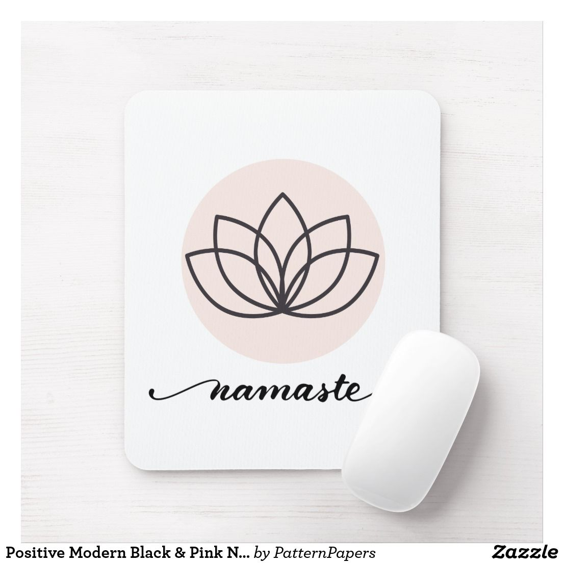 Rose Gold Namaste Quote Mouse Mat Pad